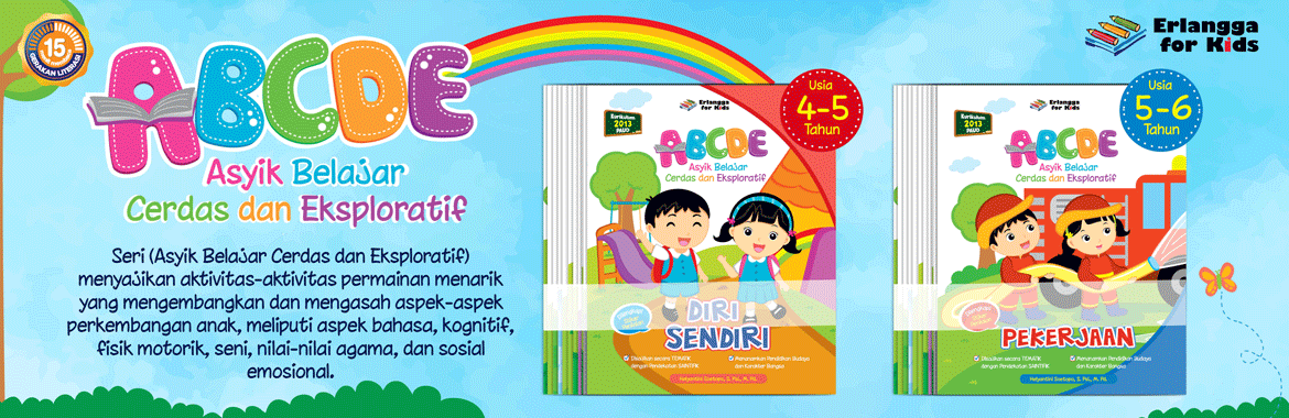 abcde erlangga for kids